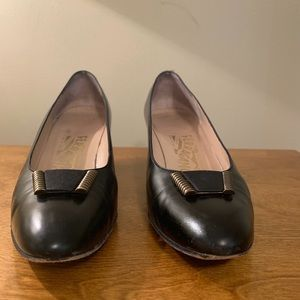 Salvatore Ferragamo Shoes - Salvatore Ferragamo Black Leather Heels